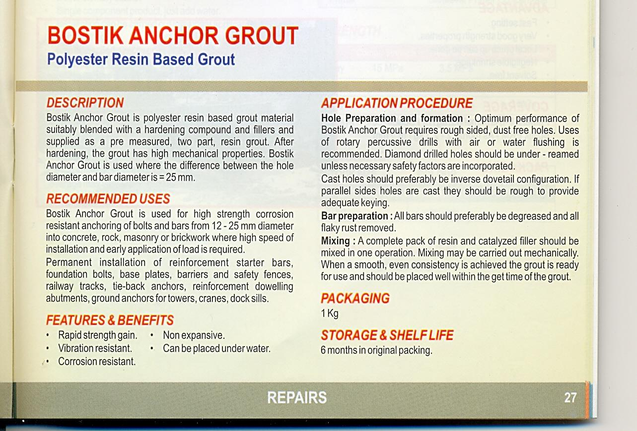 anchor grout